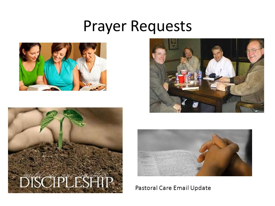 Prayer Requests Pastoral Care Email Update