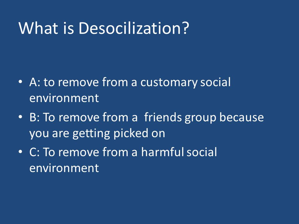 What is Desocilization.
