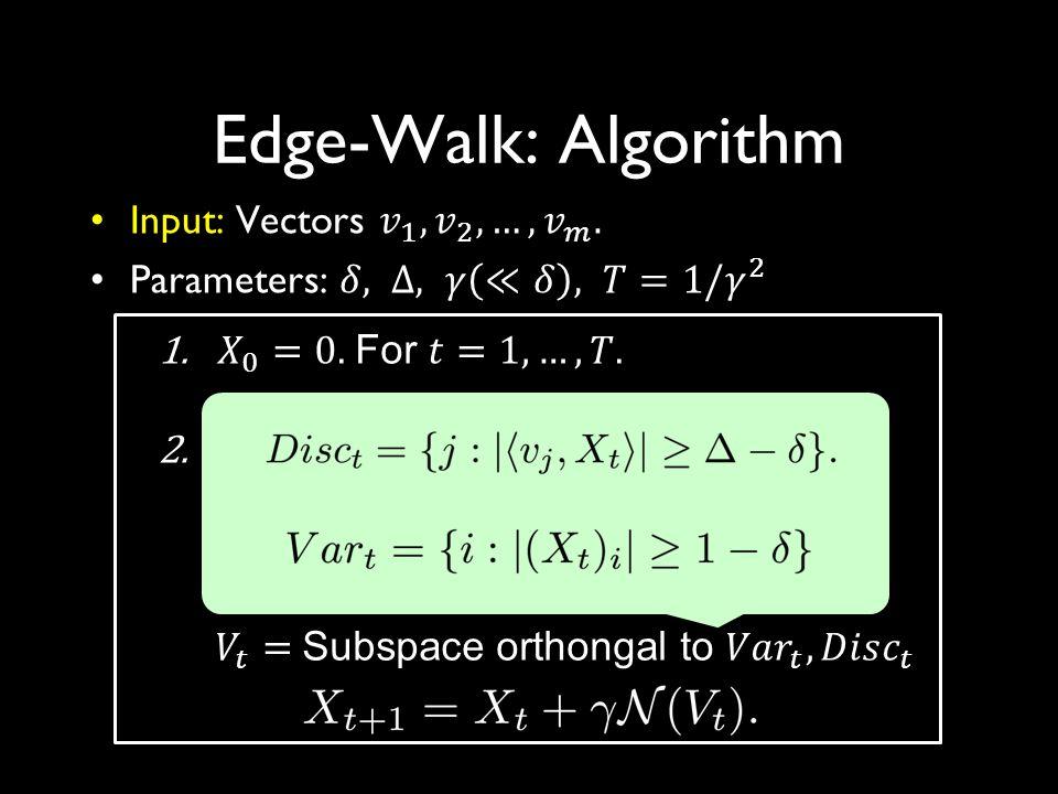 Edge-Walk: Algorithm