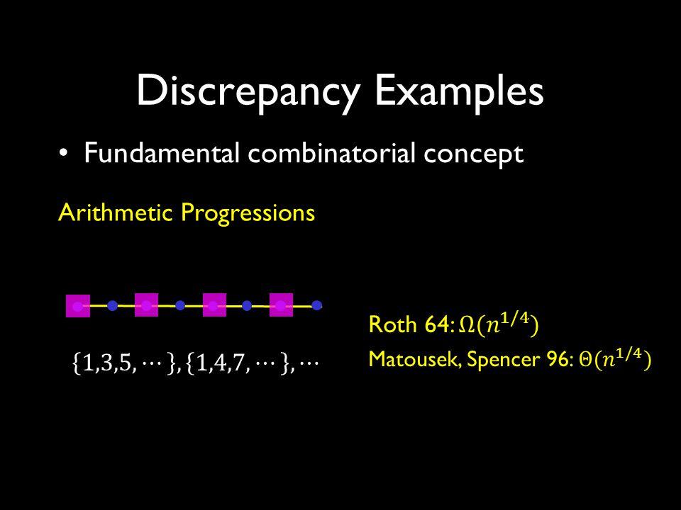 1*11* *11*1 11111 ***11 1*1*1 Discrepancy: Geometric View 1 1 1 3 1 1 0 1 1 2 3 4 5