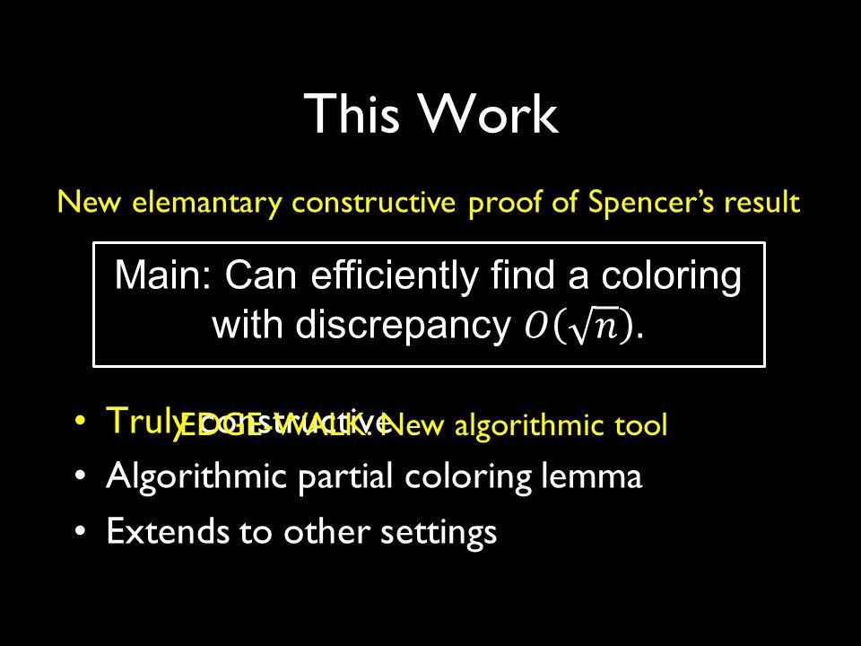 Outline 1.Partial coloring Method 2.EDGE-WALK: Geometric picture