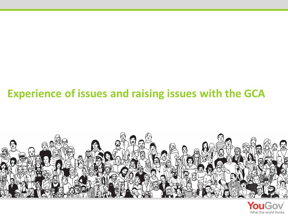Experience of issues and raising issues with the GCA