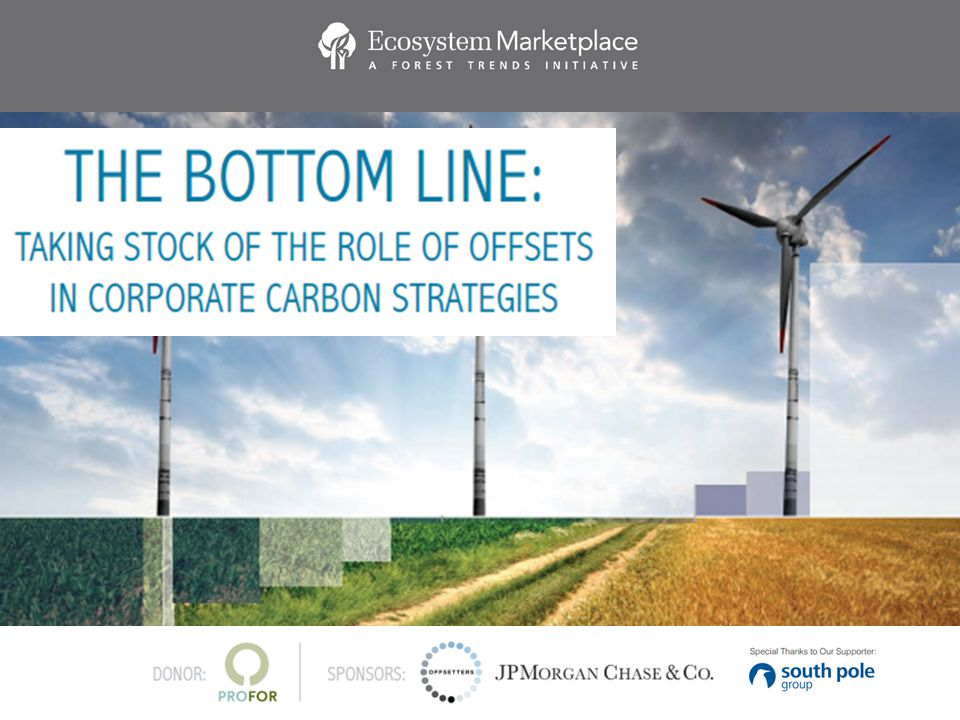 2 ECOSYSTEM MARKETPLACE: A global source for news, data and analytics around environmental markets and payments for ecosystem services