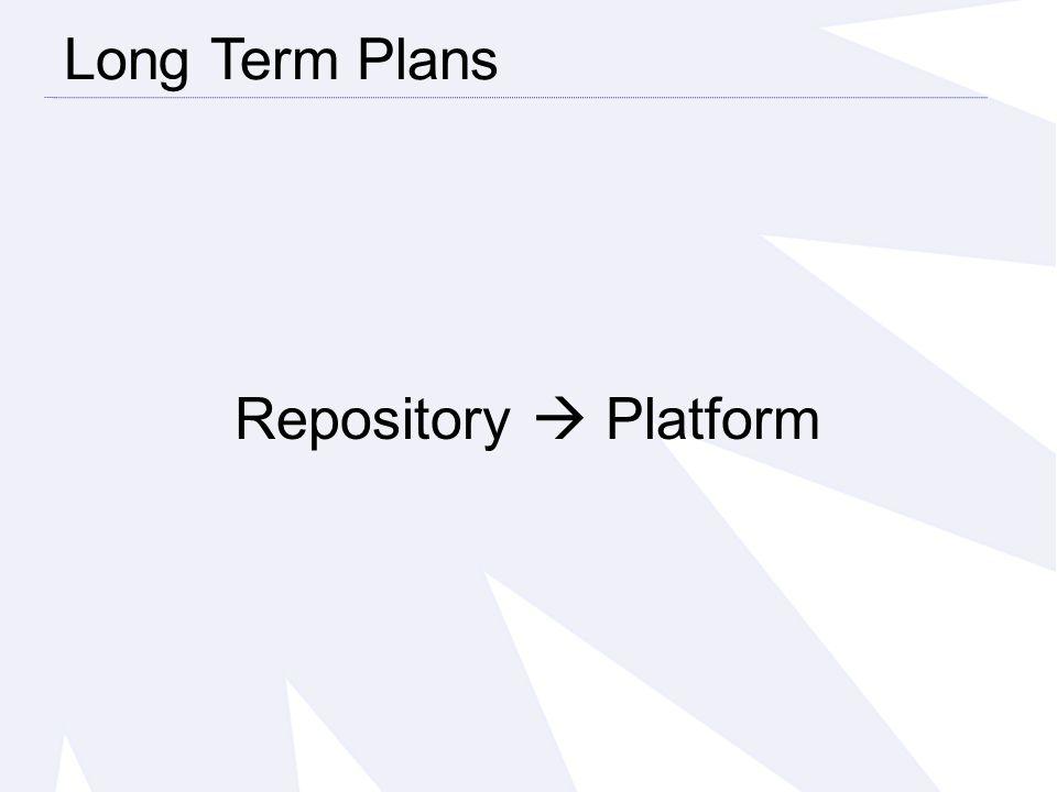 Repository  Platform Long Term Plans