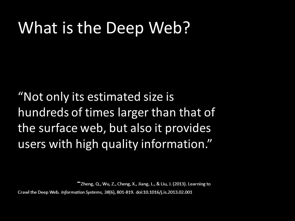 What is the Deep Web.