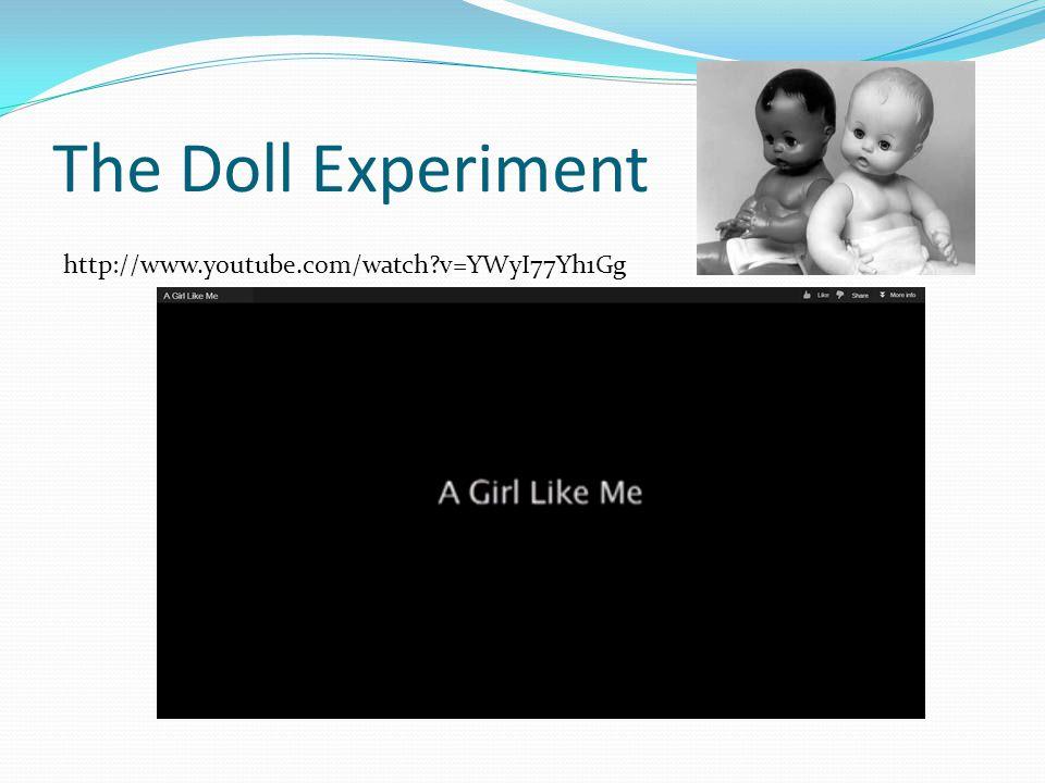 The Doll Experiment http://www.youtube.com/watch v=YWyI77Yh1Gg