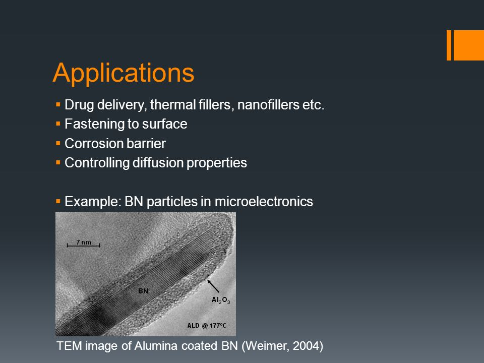 Applications  Drug delivery, thermal fillers, nanofillers etc.