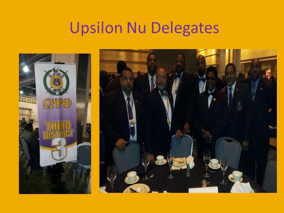 Upsilon Nu Delegates