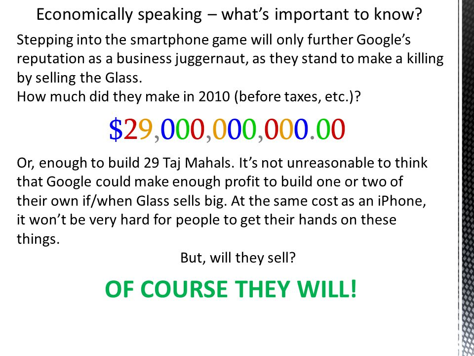 Economically speaking – what's important to know.