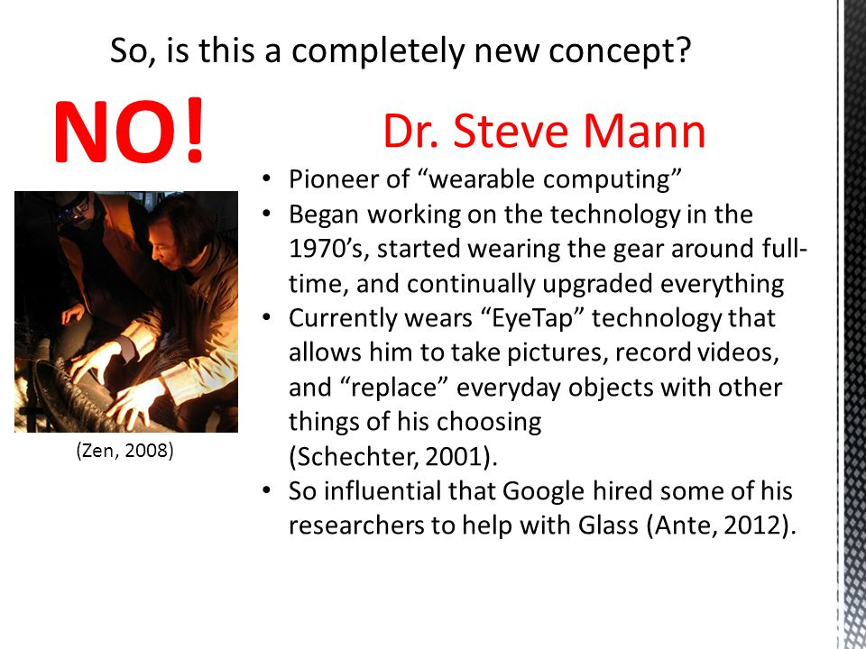 Works Cited Ante, S.(2012, September 11). Hype and hope: Test driving Google s new glasses.