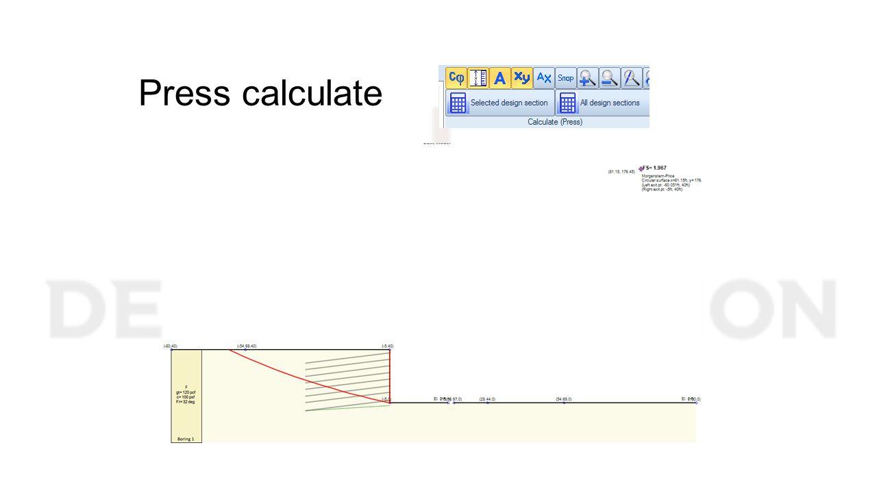 Press calculate