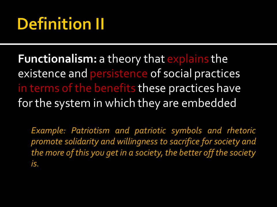  The Social system level  The General Action Level  The cultural level  The Generalized Symbolic media  Social System level * after Wikipedia, Talcott Parsons