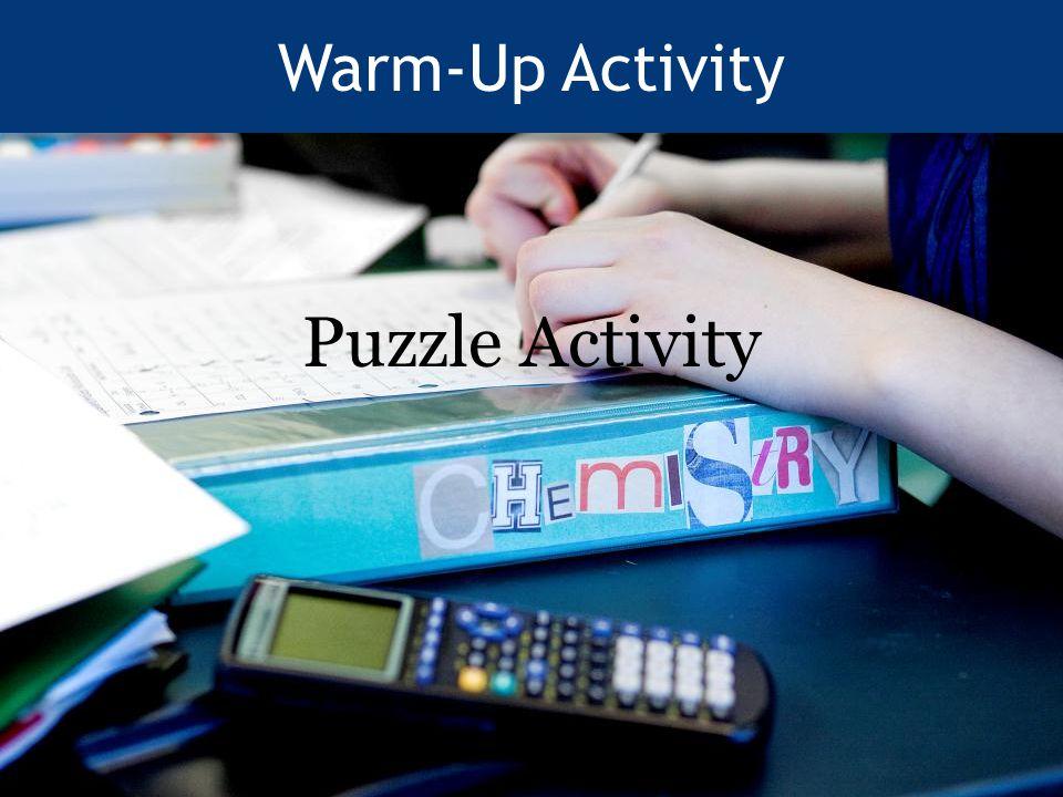 Warm-Up Activity Puzzle Activity
