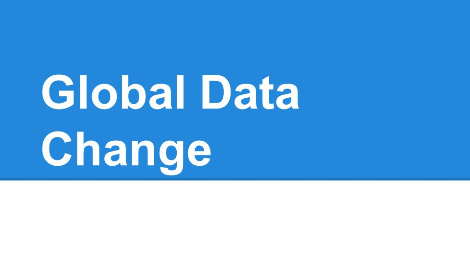 Global Data Change