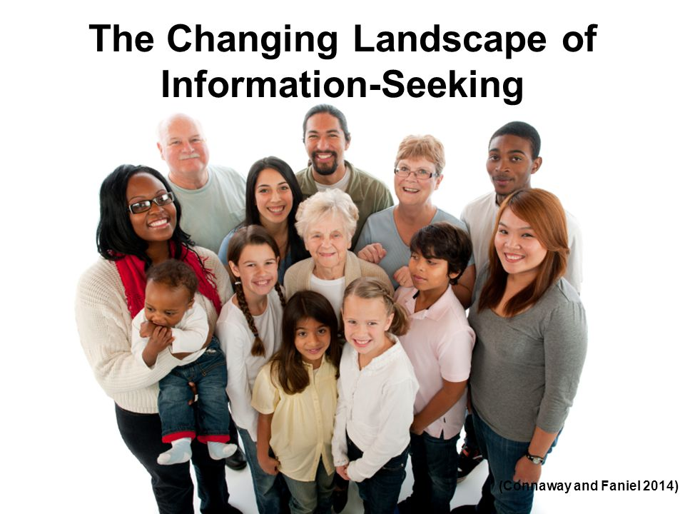 The Changing Landscape of Information-Seeking (Connaway and Faniel 2014)
