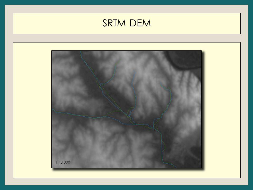 SRTM DEM 1:250,001:40,000