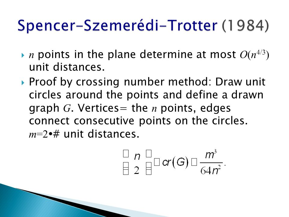  n points in the plane determine at most O(n 4/3 ) unit distances.