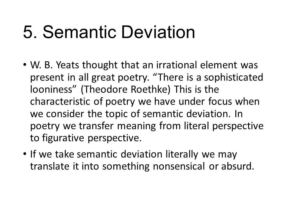 5.Semantic Deviation W. B.