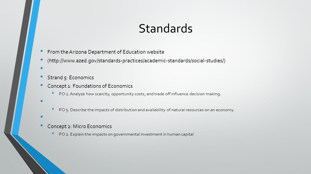 Context Context - Students have a basic understanding of the relationship between economics and an individual or organization.