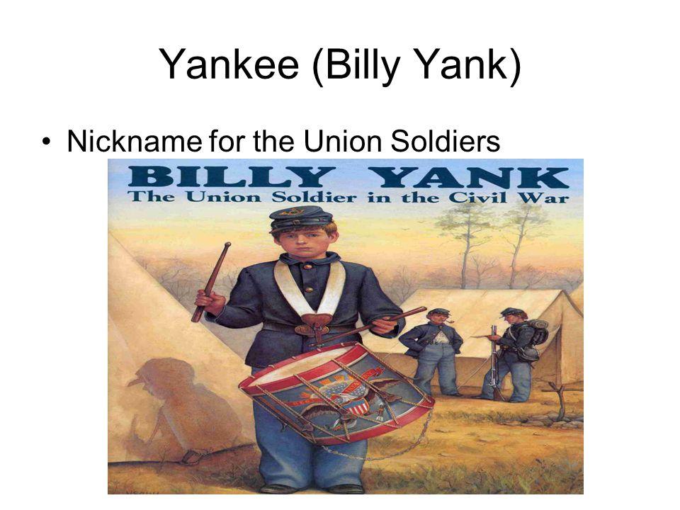 Rebel (Johnny Reb) Confederate Soldier nickname