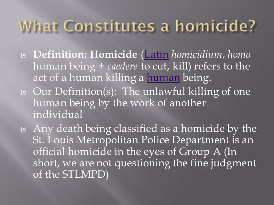  Study of the decline in homicides during the 1990's  Factors that Don't affect Homicide - Daniel  Factors that DID affect Homicide(s) - Ryan  Bodies Move - Rick  Urban Development - Spencer  Website and Predictions – Spencer  Conclusion - Dan