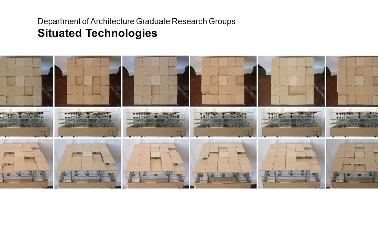 Department of Architecture Graduate Research Groups Situated Technologies