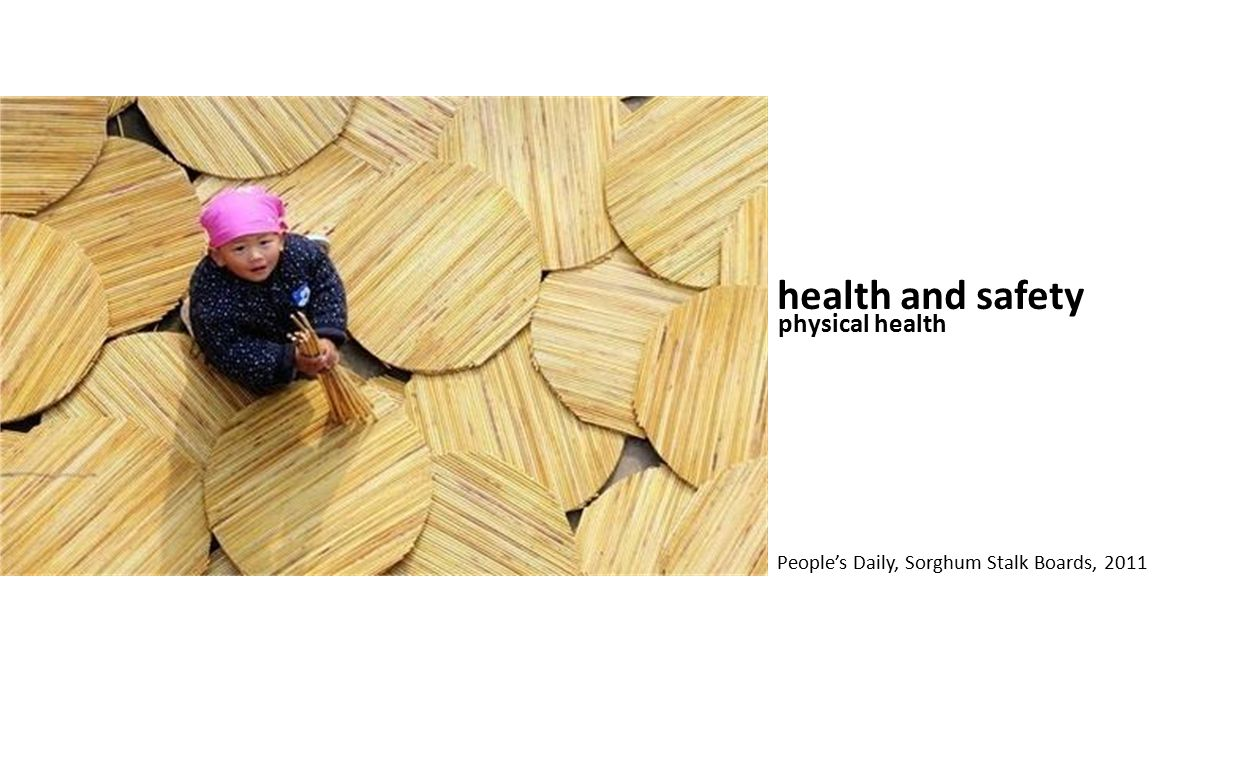 health and safety physical health People's Daily, Sorghum Stalk Boards, 2011