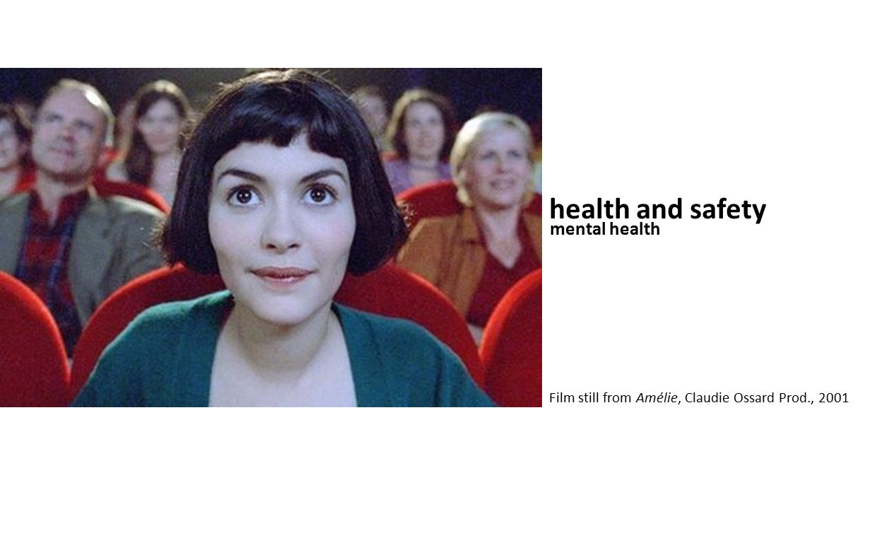 health and safety mental health Film still from Amélie, Claudie Ossard Prod., 2001