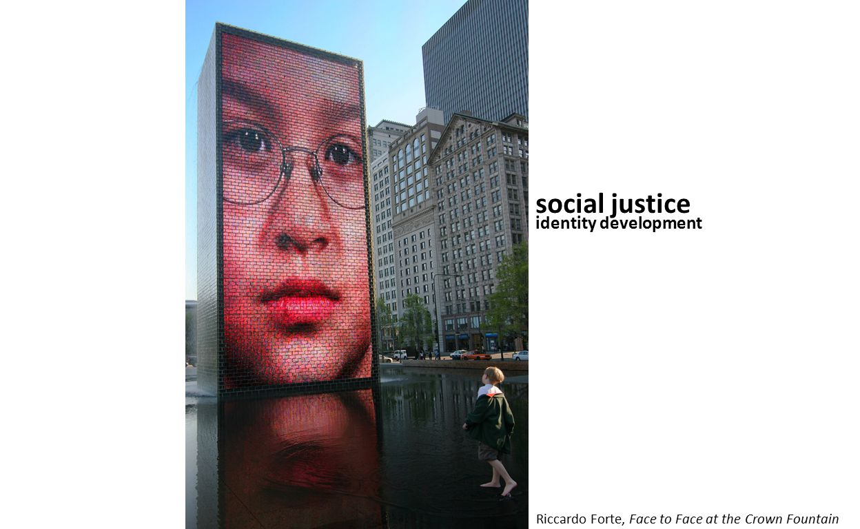 social justice identity development Riccardo Forte, Face to Face at the Crown Fountain