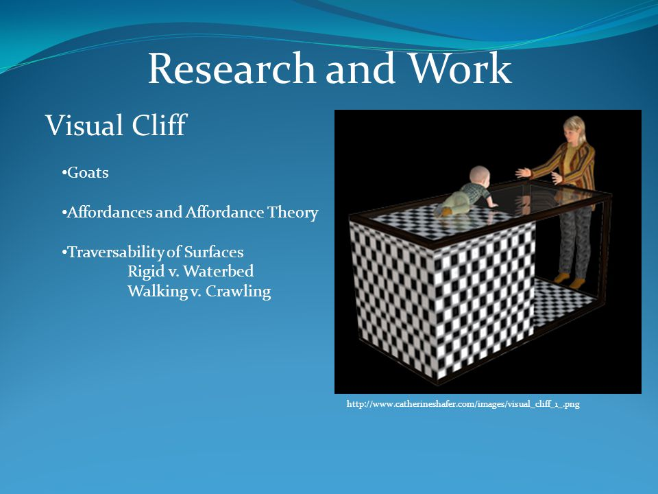 Research and Work Visual Cliff Goats Affordances and Affordance Theory Traversability of Surfaces Rigid v.