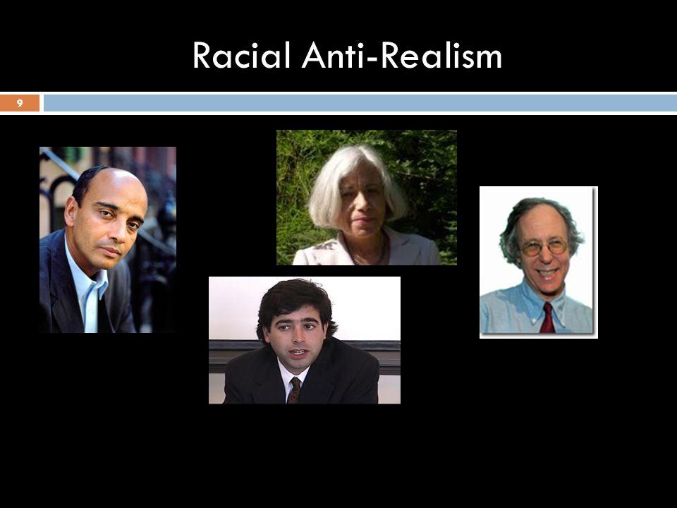 Racial Anti-Realism 9