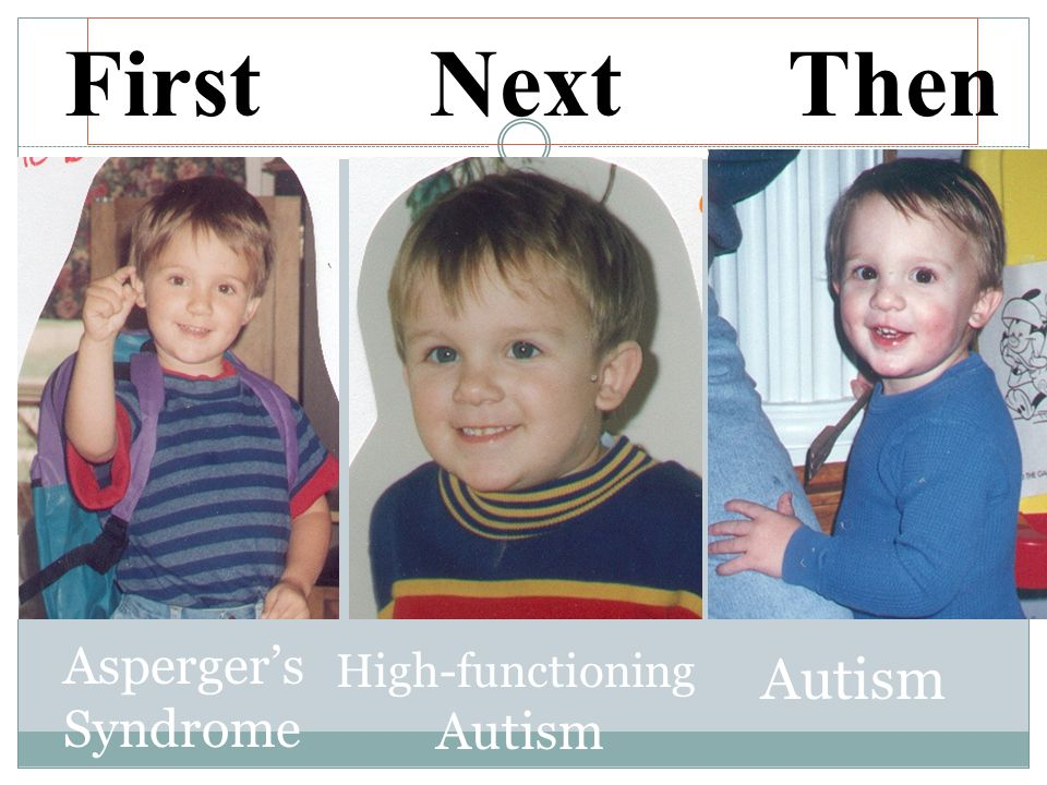 First Next Then Asperger's Syndrome High-functioning Autism