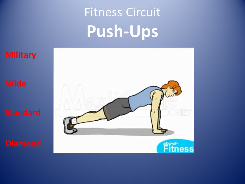 Fitness Circuit Push-Ups Military Wide Standard Diamond