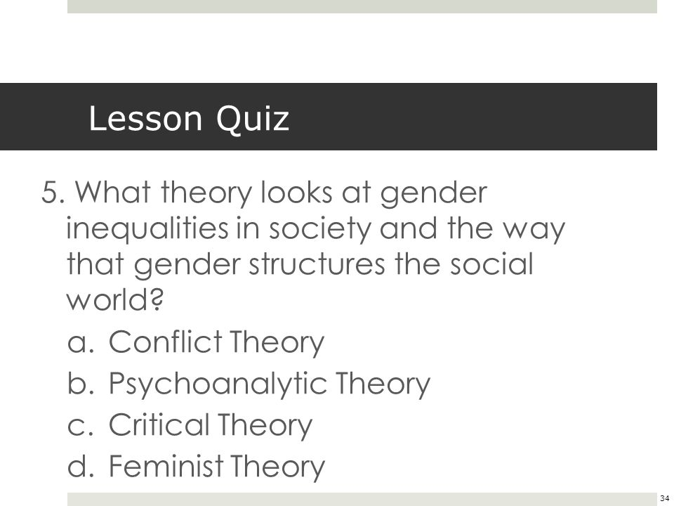 34 Lesson Quiz 5.