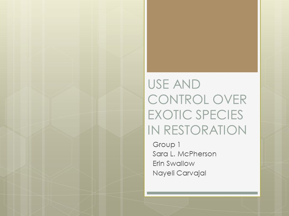THINGS TO CONSIDER IN INVASIVE SPECIES MANAGEMENT AND CONTROL Erin Swallow