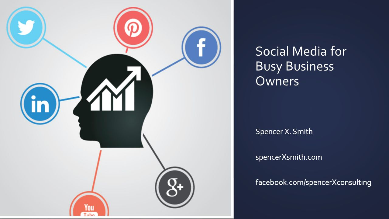 Social Media for Busy Business Owners Spencer X.
