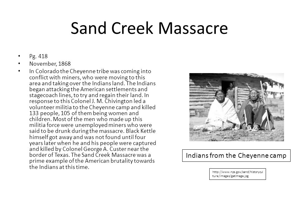 Sand Creek Massacre Pg.