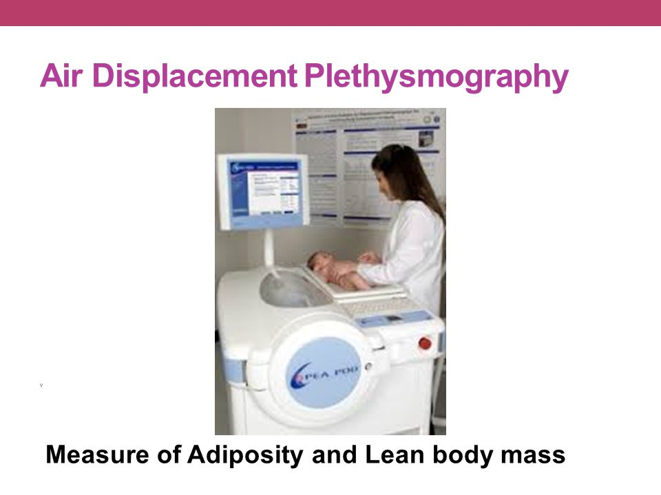 Air Displacement Plethysmography v Measure of Adiposity and Lean body mass