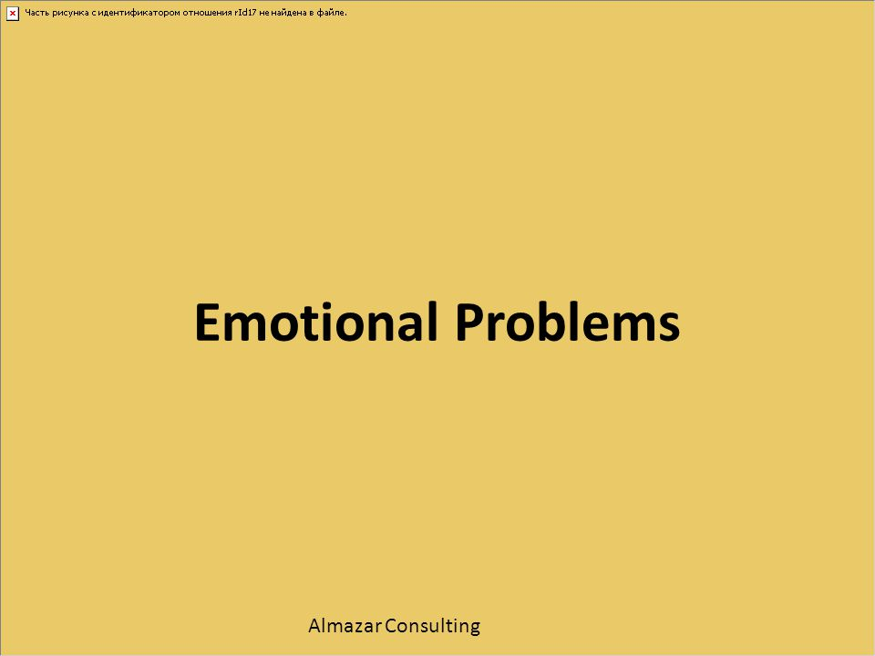 Emotional Problems Almazar Consulting