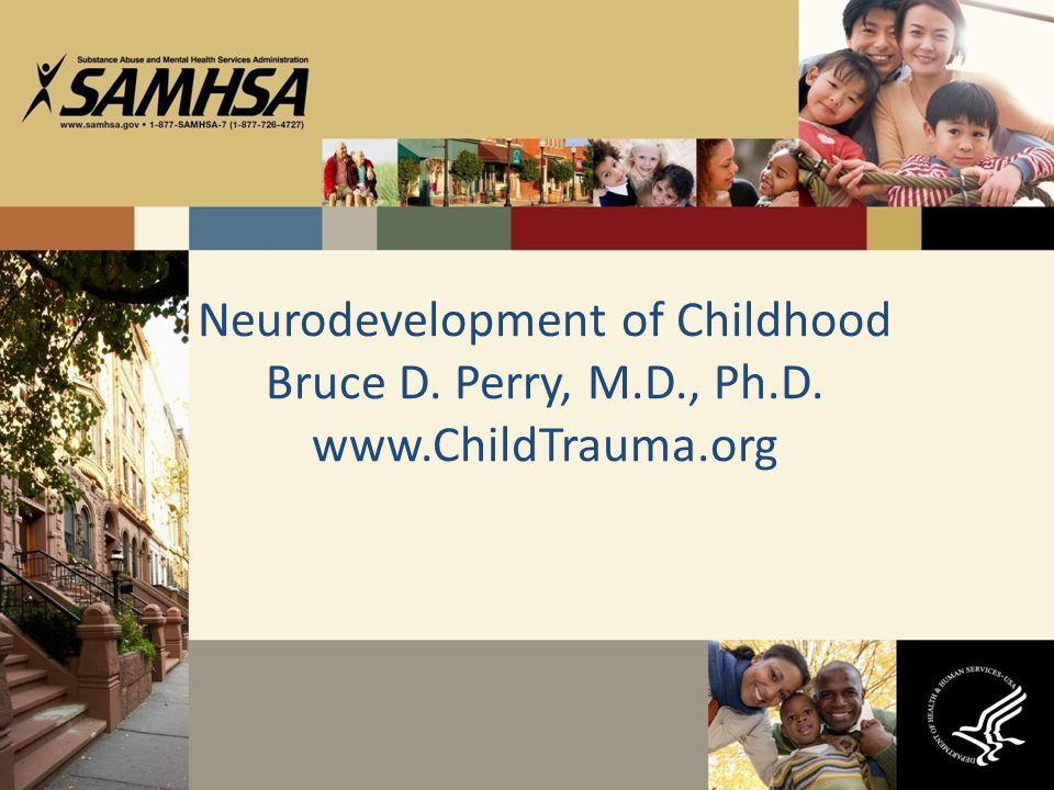 Neurodevelopment of Childhood Bruce D. Perry, M.D., Ph.D. www.ChildTrauma.org