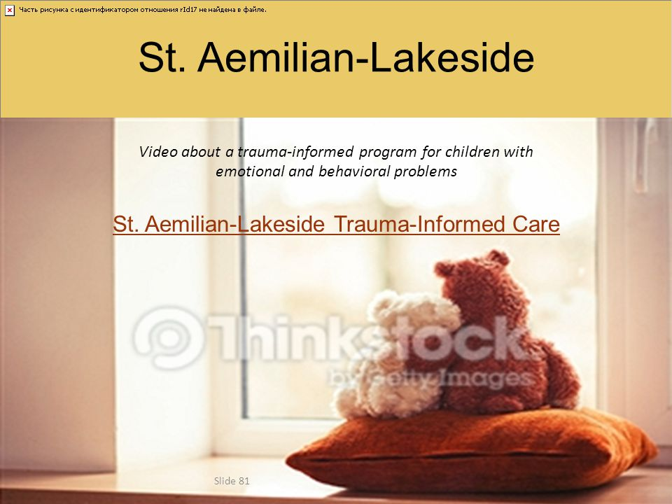St. Aemilian-Lakeside Video about a trauma-informed program for children with emotional and behavioral problems St. Aemilian-Lakeside Trauma-Informed