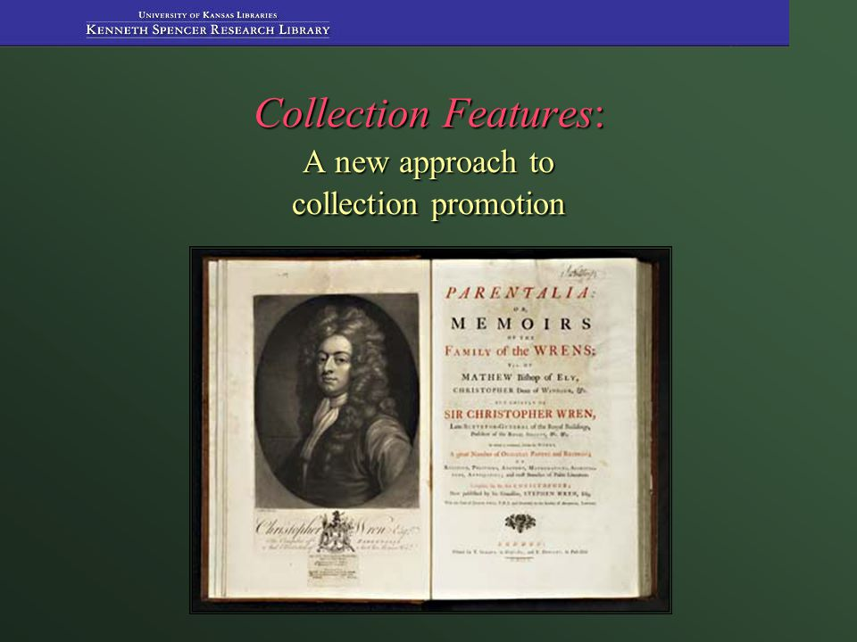 Collection Features: A new approach to collection promotion