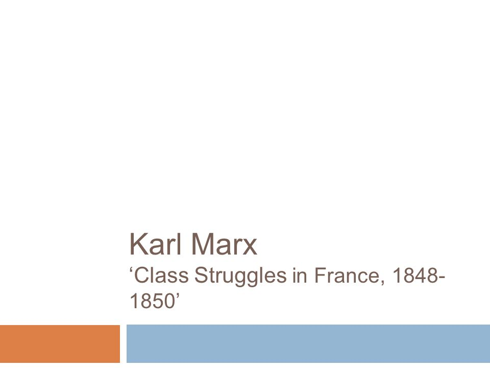 2 Presentation Layout  Introduction to the text  Main Events  Marx's Perspective  Historical Materialism  Additional Academic Comments  Summary
