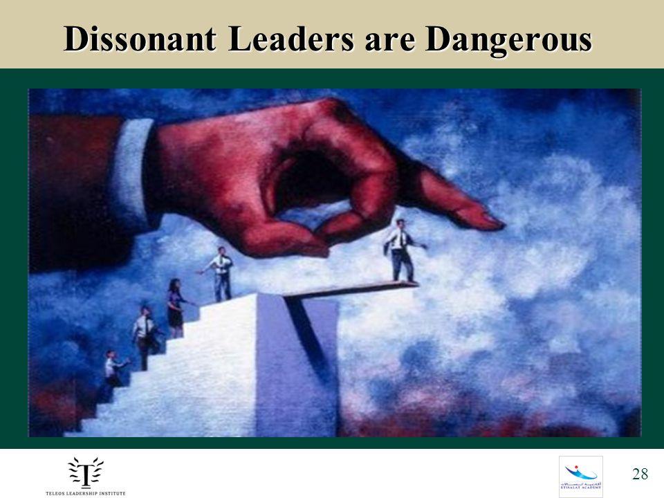 28 Dissonant Leaders are Dangerous Dissonant Leaders are Dangerous