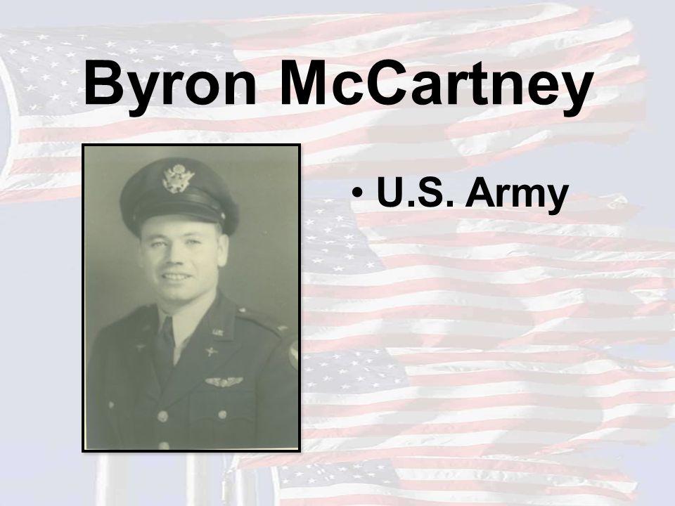 Byron McCartney U.S. Army