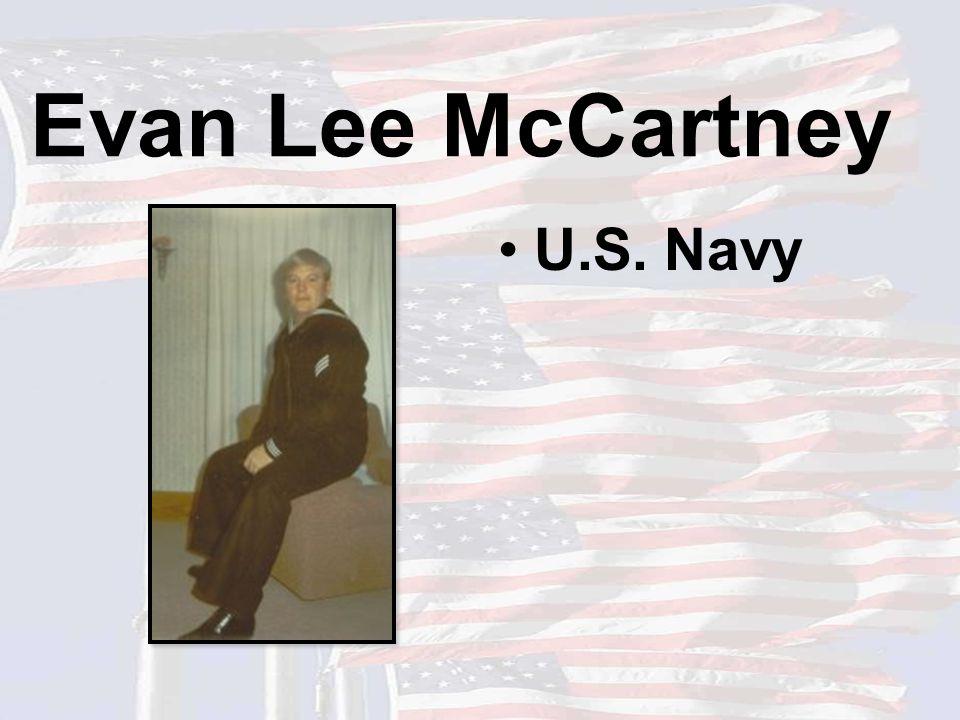 Evan Lee McCartney U.S. Navy