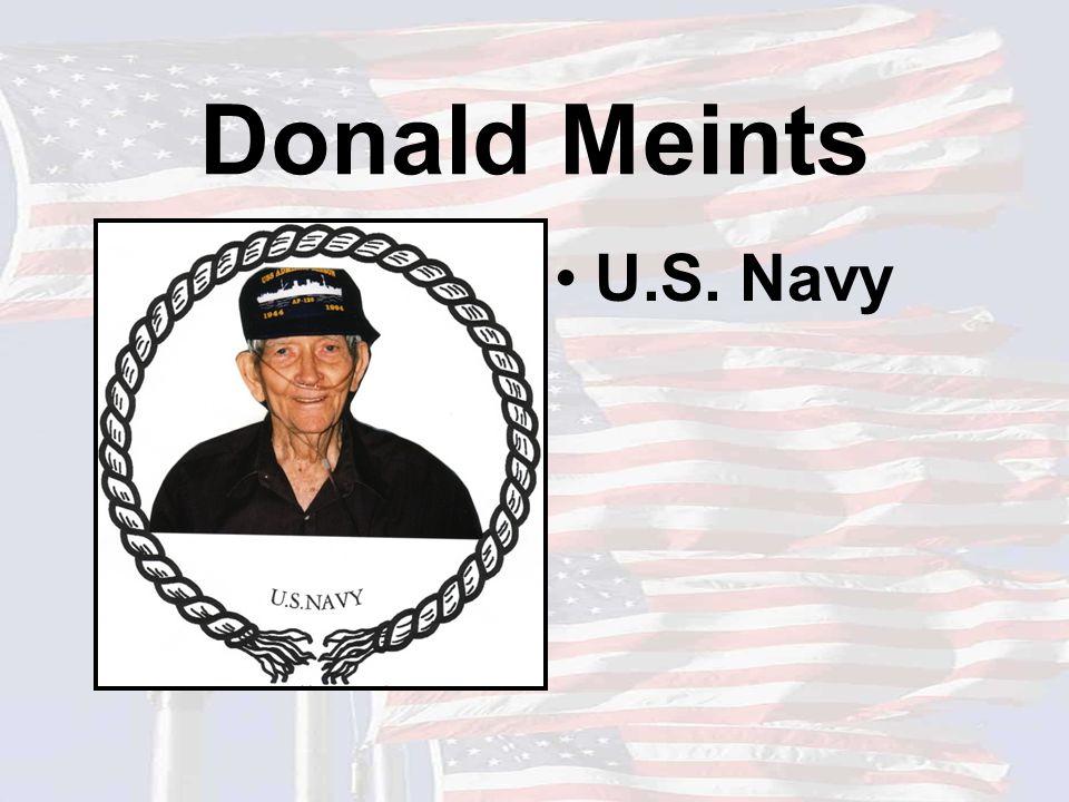 Donald Meints U.S. Navy