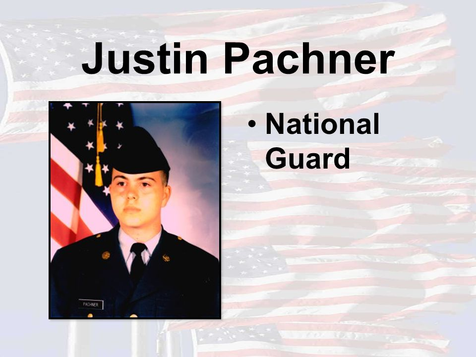 Justin Pachner National Guard