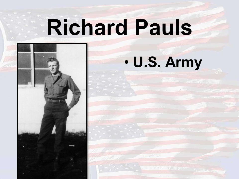 Richard Pauls U.S. Army