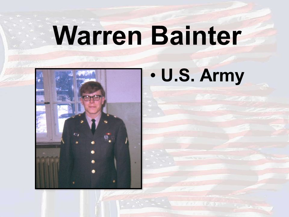 Warren Bainter U.S. Army